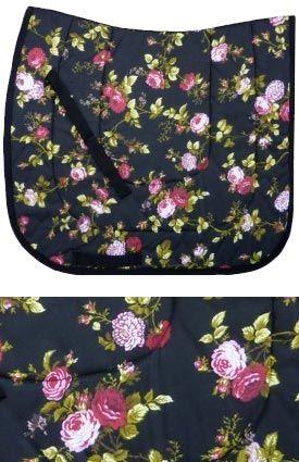 Black Floral Dressage Saddle Pad