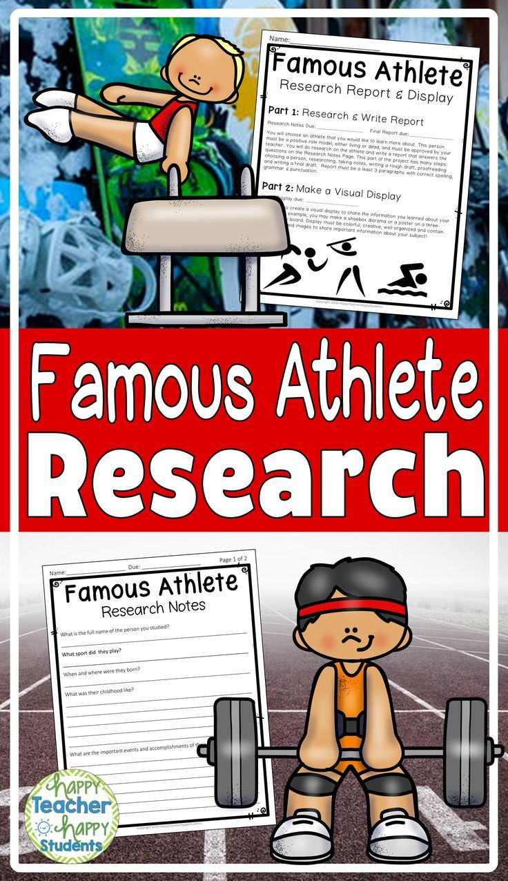 famous athlete research project perfect for winter olympics 2018