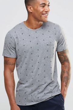 Abercrombie & Fitch T-Shirt Anchor Print In Muscle Slim Fit - Grey https://modasto.com/abercrombie-fitch/erkek-ust-giyim-t-shirt/br21370ct88