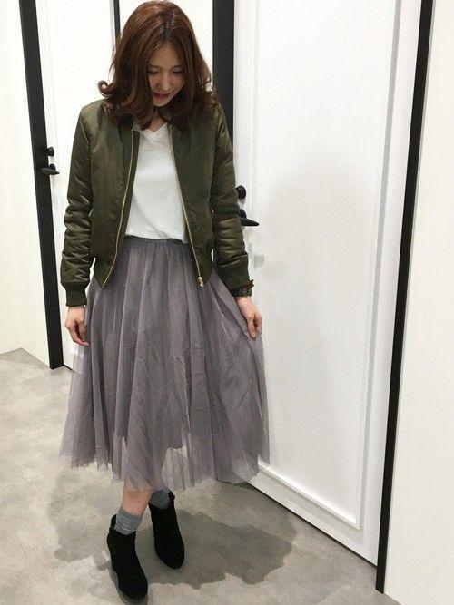 UNRELISH/Princess Room by LODISPOTTO 小倉COLET店|木村 恵梨さんのスカート「プリーツチュールロングスカート(UNRELISH|アンレリッシュ)」を使ったコーディネート