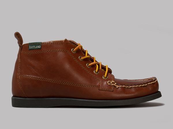 Eastland Seneca 5-Eye Ankle Boots (Tan Waxee Leather)