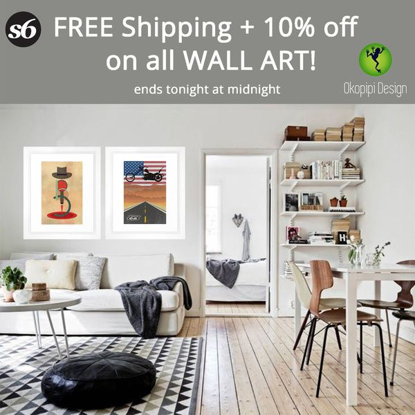 PROMO- 10% off + FREE Shipping on all Wall Art!