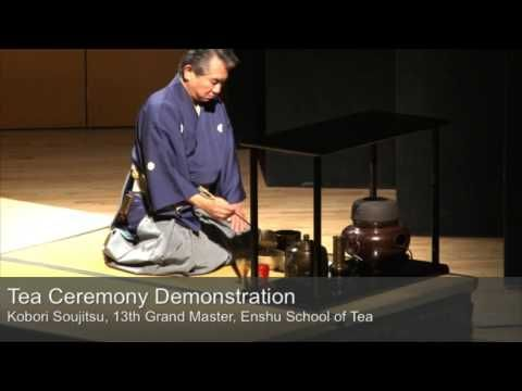 demonstration of samurai style tea ceremony by Kobori Soujitsu, 13th Grand Master of Enshu School of Tea