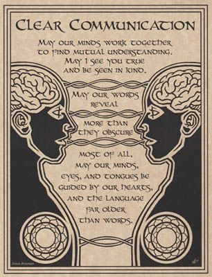 Book of Shadows: #Prayer for #Clear #Communication.