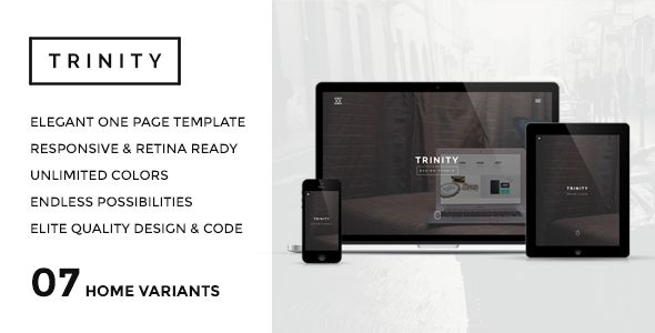 TRINITY - Elegant & Responsive One Page Parallax. Live preview here: http://themeforest.net/item/trinity-elegant-responsive-one-page-parallax/7826892