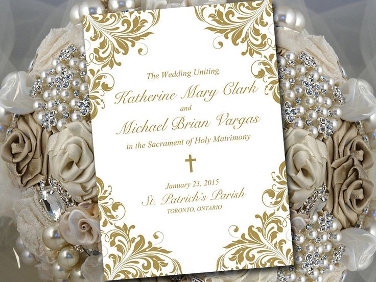 17 best ideas about wedding program templates on pinterest