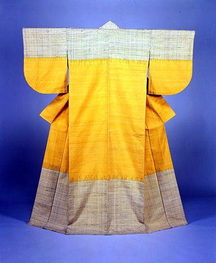 kimono by National Living Treasure of Japan, Fukumi SHIMURA (1924~)