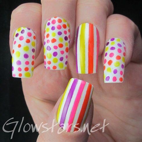 Featuring OPI Outrageous Neons* by Glowstars - Nail Art Gallery nailartgallery.nailsmag.com by Nails Magazine www.nailsmag.com #nailart