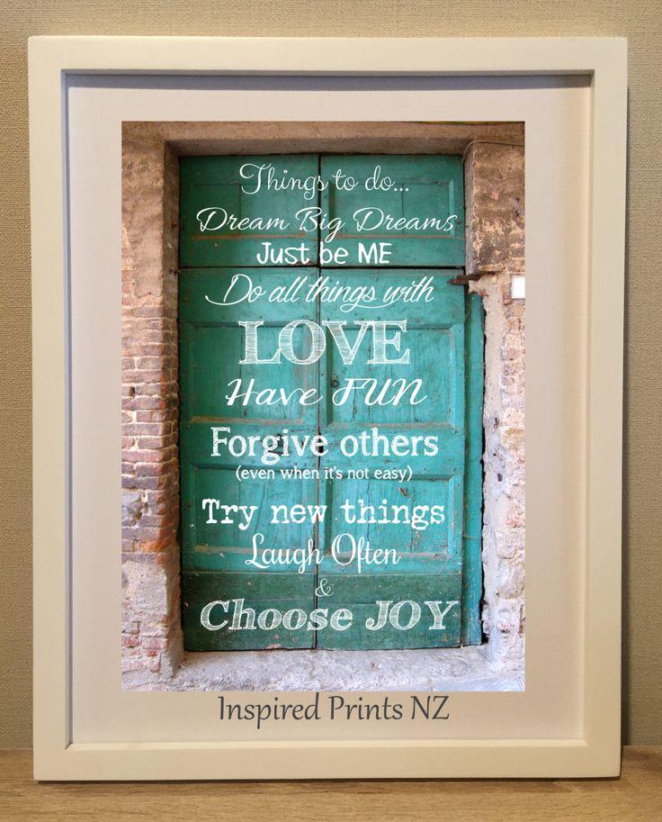 A4 Print Be you Choose Joy by InspiredPrintsNZ on Etsy