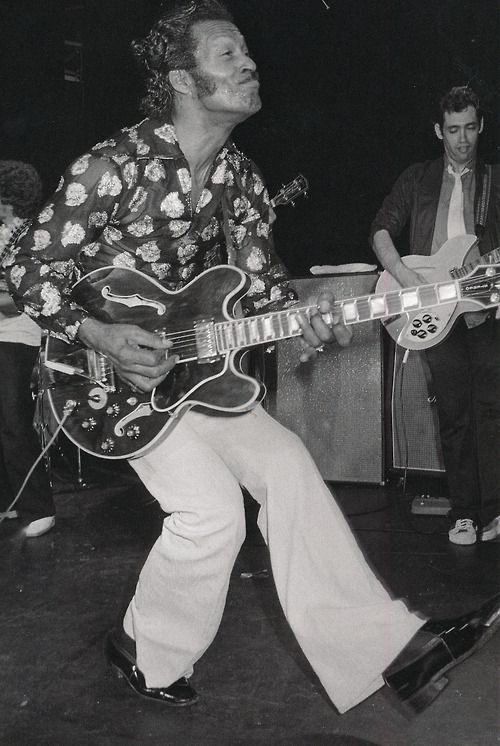 Chuck berry black and white dress