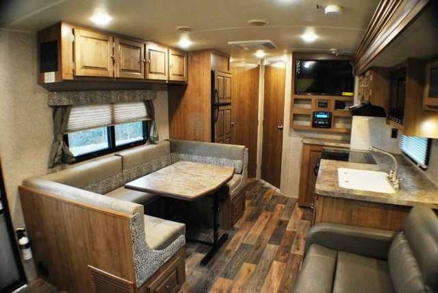 """2016 New Forest River ROCKWOOD ROO 23WS Travel Trailer in Pennsylvania PA.Recreational Vehicle, rv, *** IN STOCK *** ALL NEW Hybrid with front and rear 60"""" x 80"""" fold out bunks, U-dinette, living room slide & ward slide.. model 23WSS Front & Rear, and 60"""" x 80"""" fold out beds•Rear private bath with new shower•Side U-shaped dinette/sleeper •Flip sofa in slide, Solid Wood and Raised Panel Doors, Residential Full Extension Metal Drawer Guides, Auto ignition Ducted Furnace, 13,500 BTU…"""