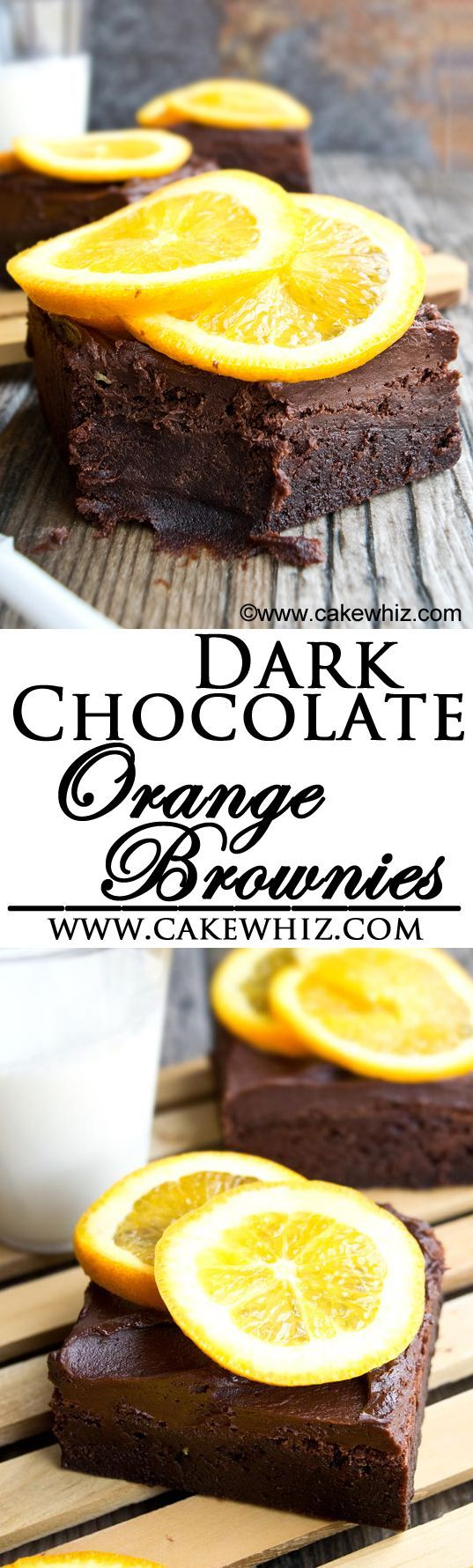 These rich and fudgy DARK CHOCOLATE ORANGE BROWNIES are topped off with chocolate fudge frosting. They are made with both, chocolate chips and cocoa powder plus lots of orange zest! Perfect citrus dessert for Spring and Summer time!