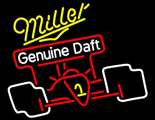 Miller Race Car Neon Beer Sign, Miller MGD Neon Beer Signs & Lights   Neon Beer Signs & Lights. Makes a great gift. High impact, eye catching, real glass tube neon sign. In stock. Ships in 5 days or less. Brand New Indoor Neon Sign. Neon Tube thickness is 9MM. All Neon Signs have 1 year warranty and 0% breakage guarantee.