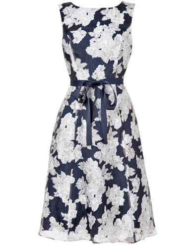 Norma Floral Burnout Dress
