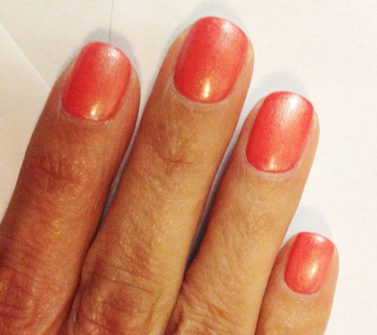 CND Shellac Cake Pop nail color. I have this color right