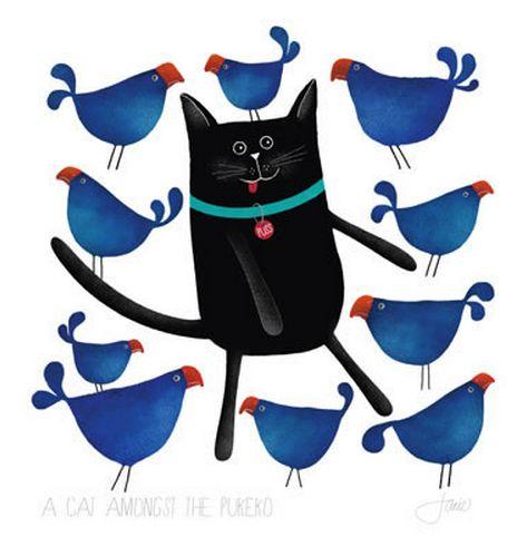 A cat amongst the, er, Pukeko? Red Ink Design imagevault.co.nz
