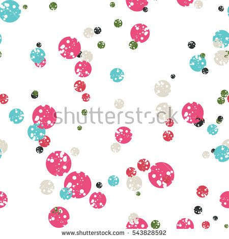 Polka dot background. Abstract round seamless pattern. Vector illustration.