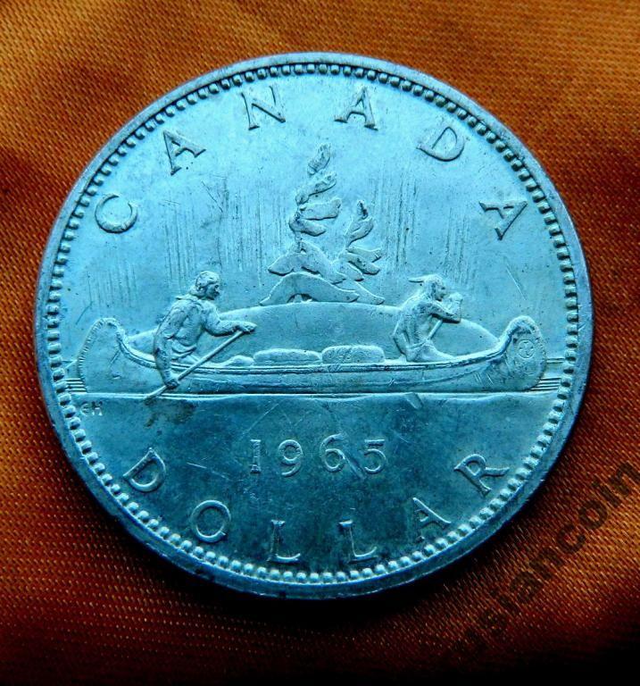 SALE Канада Доллар каноэ индейцы СЕРЕБРО с Рубля