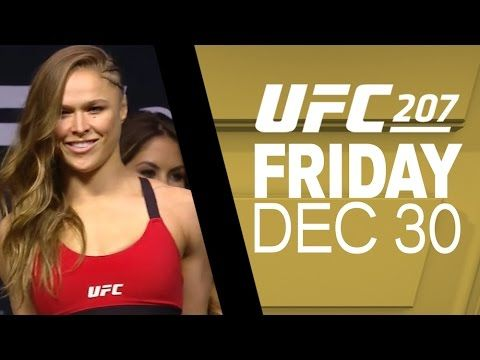 UFC 207: Nunes vs Rousey - Weigh-in Recap - YouTube