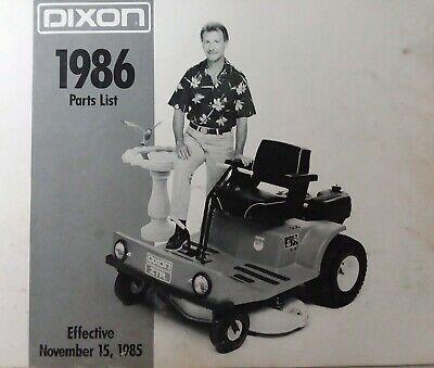 Ad Ebay Url Dixon Ztr Zero Turn Riding Lawn Mower Tractor 1986 Parts Catalog Manual 308 427 In 2020 Lawn Mower Tractor Riding Lawn Mowers Lawn Mower