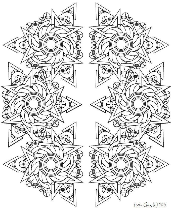 Mandala Coloring Pages Pdf Free : Printable intricate mandala coloring pages instant