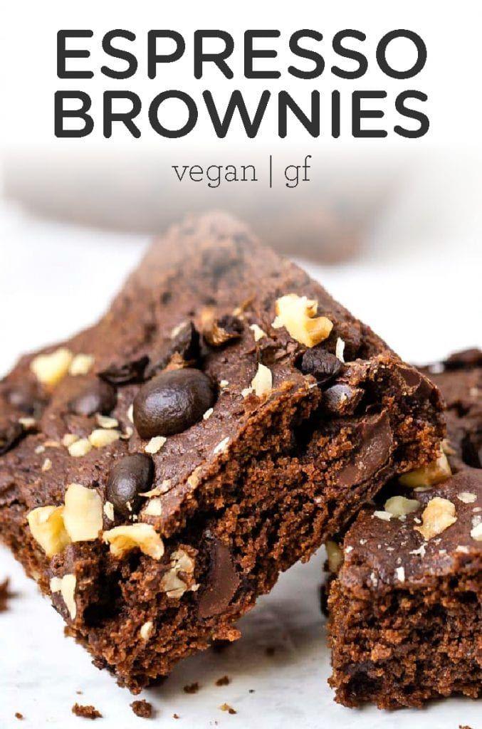 Vegan Espresso Brownies Recipe Easy Gluten Free Desserts