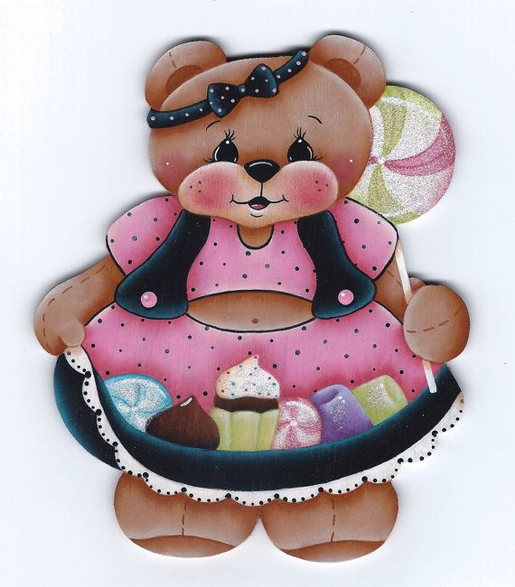Sugar Bear Painting E-Pattern by GingerbreadCuties on Etsy