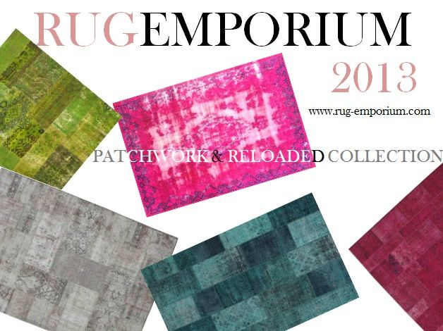 PATCHWORK + RELOADED RUGS = ANTIQUE PERSIAN RUGS THAT GETS REWASHED AND RE-DYED TO CREATE THIS NEW LOOK! GET IT @ RUG-EMPORIUM www.rug-emporium.com