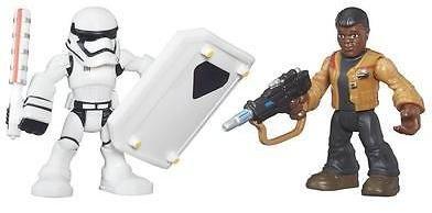 Star Wars Playskool Galactic Heroes Resistance Finn & 1st Order Stormtrooper