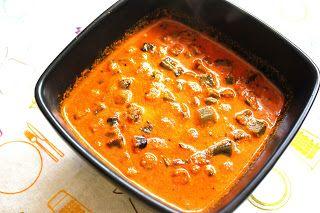 Okra gojju - okra in mustard and coconut curry