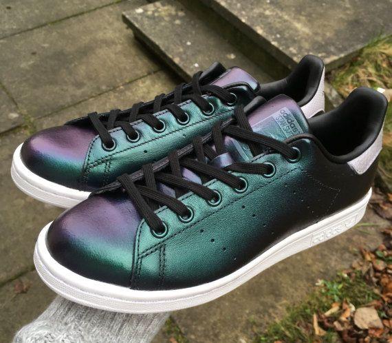 Custom chameleon Adidas Stan Smith sneakers colourshift trainers ready made  childrens unisex womens US 6 UK 5.5  a616544b54
