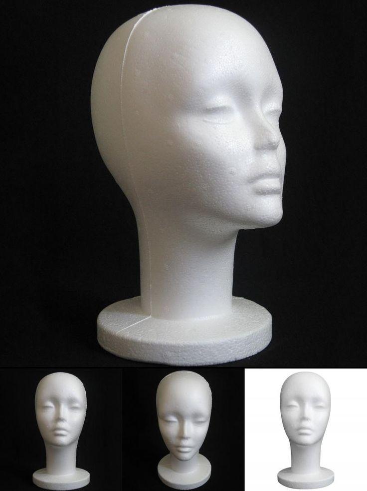 [Visit to Buy] Female foam Model Head Wig Stand Mannequin Manikin Head Model Foam Wig Hair Glasses Display Levert Dropship 3MAR28 #Advertisement