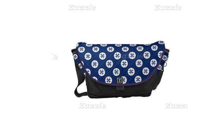 BLUE CORSAIR STYLE octagon cross Messenger Bags