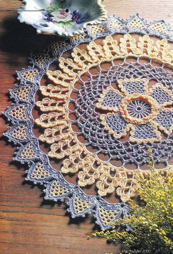 Doily Crochet Pattern  Golden Days by PaperButtercup on Etsy
