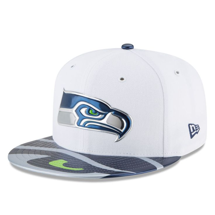 Youth New Era White Seattle Seahawks 2017 NFL Draft Official On Stage 59FIFTY Fitted Hat