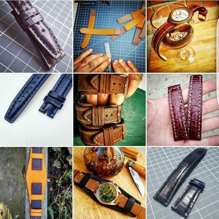 IWC, Seiko, Tag Heuer, Omega... mix and match colours, textures and sizes.