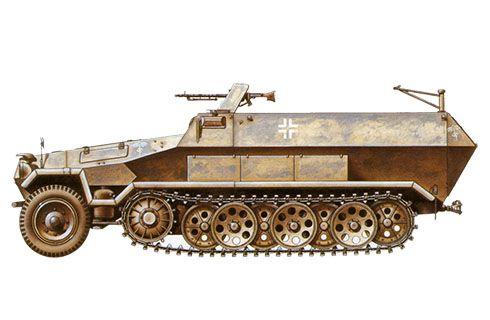 Sd.kfz 251-1 Ausf, B, 21ª División Panzer, Deutsches Afrikakorps, Libia, 1941. Pin by Paolo Marzioli