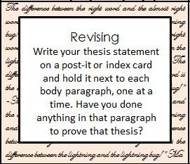 developing a thesis statement for middle school students Writing a thesis sentence: an introduction  first, when analyzing, students  need to be conscious of examining parts of a  will this thesis sentence make  the grade  african and african american studies anthropology art history  asian and middle eastern languages and literatures asian and.