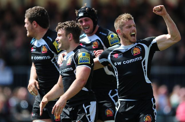 Exeter Chiefs celebrate