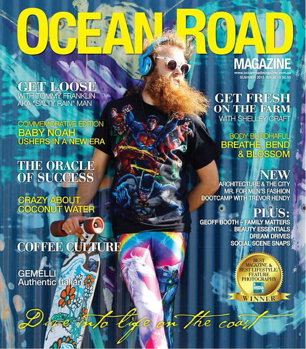 """Tommy Franklin """"Salty Rain Man"""" - Cover for Summer 2015 Edition - Ocean Road Magazine. Check him out"""