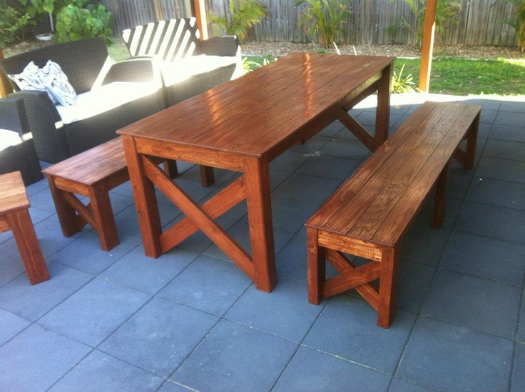 Farm Style Outdoor Setting. Recycled Timber Furniture  Www.recycledbyluke.com.au Part 95