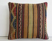 cheap decorative pillow Handwoven Kilim Pillow Throw Pillow kilim cushion kilim rug pillow cover decorative throw pillow turkish cushion