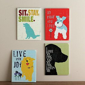 Dog lovers, rejoice! This whimsical wall art celebrates that special bond you have with your best-loved pet.