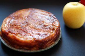 Gâteau fondant aux pommes : l'invisible