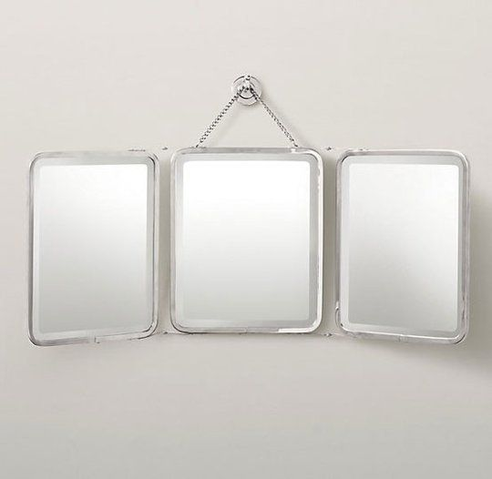Three's Company: Industrial Chic Trifold Mirrors