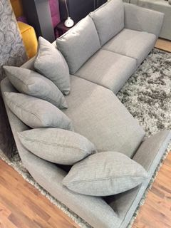 Brand new as of April 2016!  This is our latest shaped corner sofa - available in all sorts of shapes & sizes, including as a sofa and/or chaise unit.  Any fabric....you know the drill by now!