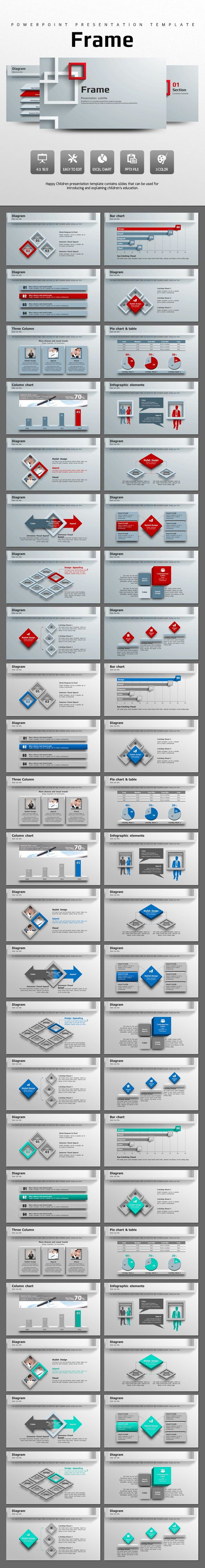 Frame PowerPoint Template #design #slides #presentation Download: http://graphicriver.net/item/frame-/13120007?ref=ksioks