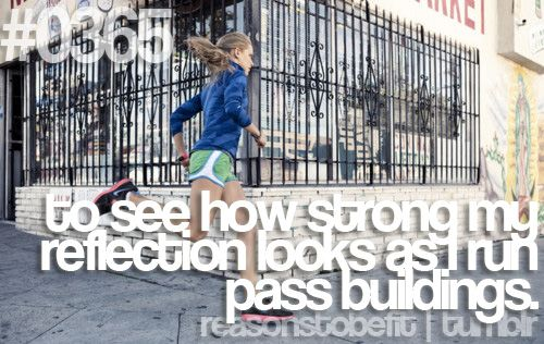 Reasons to be fit #0365 To see how strong my reflection looks as I run pass building.