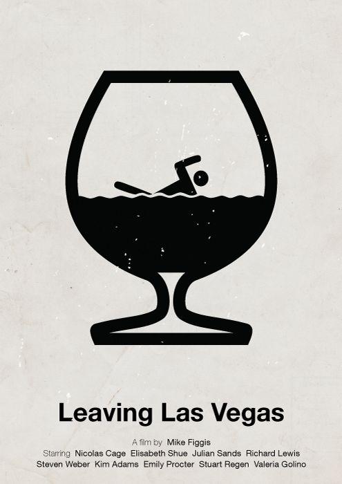 Leaving Las Vegas (1995) ~ Minimal Movie Posters by Viktor Hertz #amusementphile