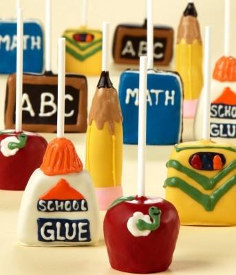 back to school cake pops @Alysia - Made of Metal Nunes